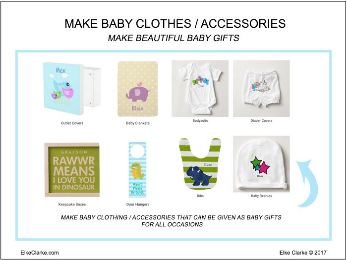Make Baby Clothing and Accessories That Can Be Given As Baby Gifts