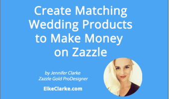 Create Matching Wedding Products to Make Money on Zazzle