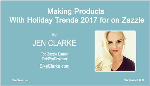 Holiday Trends for 2017 on Zazzle with Jen Clarke Gold ProDesigner on Zazzle