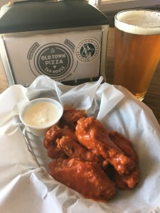 Buffalo Wings and beer
