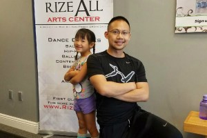 Roxana Cheung with her hip-hop dance instructor and Rize All co-founder Dane San Pedro