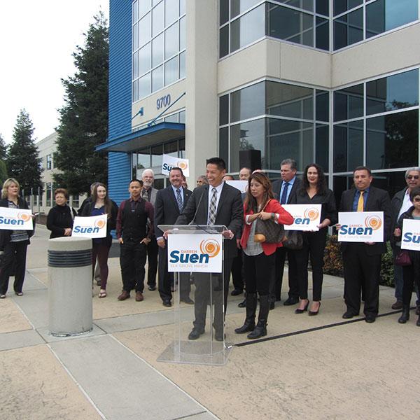 Vice-Mayor of Elk Grove Darren Suen Announces His Run For Mayor