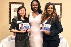 Linny Chin, Mayor Candidate Tracie Stafford, & Tresla Gilbreath