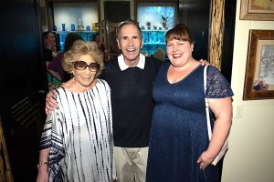Myrna & Freddie Gershon of pictured with Anne-Marie Pringle of Musical Mayhem Productions