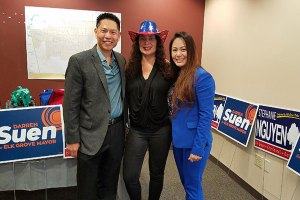 Vice-Mayor Darren Suen, EGUSD Board Member Bobbie Singh-Allen, & City Council Member Stephanie Nguyen