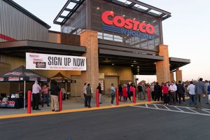 Costco Opens To Large Crowds