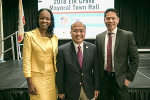 Elk Grove Mayoral Candidates: Community Activist Tracie Stafford, Mayor Steve Ly, & Vice-Mayor Darren SuenPhotography Credit: Jackson Phan