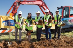 City of Elk Grove representatives along with Mayor Steve Ly celebrate at the groundbreaking of the Elk Grove Animal Shelter.  Photo courtesy of City of Elk Grove.
