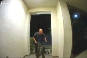 Man Arrested After Surveillance Video Shows Him Stealing Bike