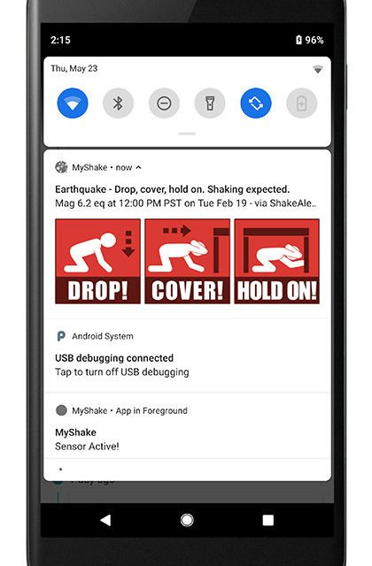 Drop! Cover! Hold On! The MyShake App Is Here!