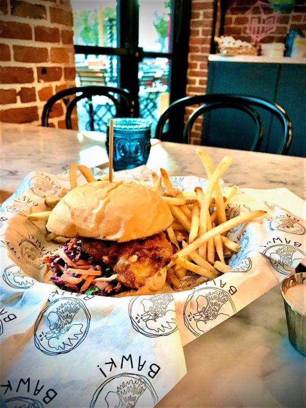 BAWK! Fried chicken sandwich/Roshá Hester