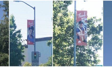 Banners In Elk Grove Honoring Essential Workers