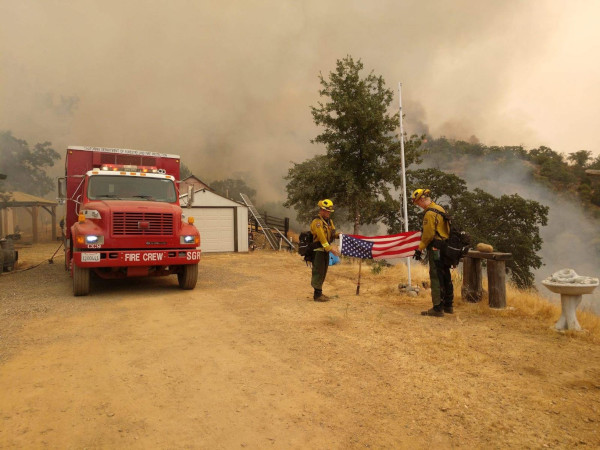 Wildfires Rage Over Northern California