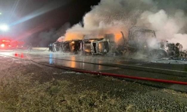 Big Rig Crashes, Explodes On I-5 In Elk Grove