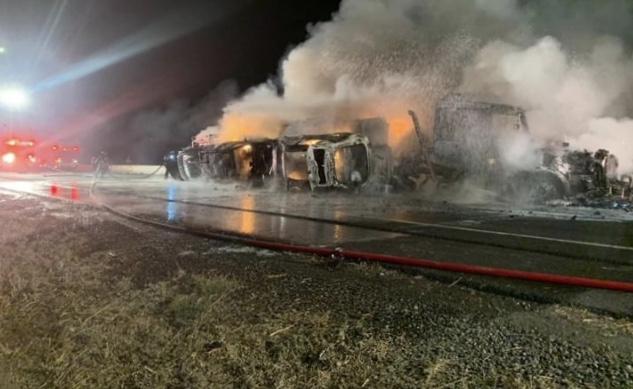 Big Rig Crashes, Explodes On I-5 In Elk Grove