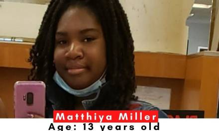 Local Teen Matthiya Miller Missing Since Thursday-Update: MATTHIYA IS HOME SAFE!!