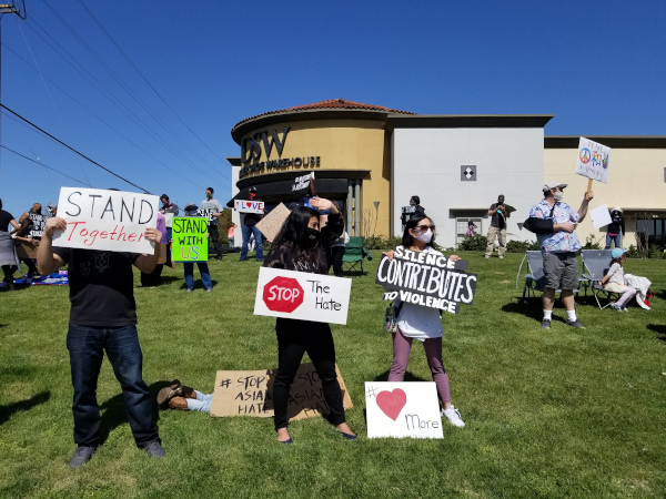 Love & Support At Second Protest In Elk Grove Supporting Asian Americans