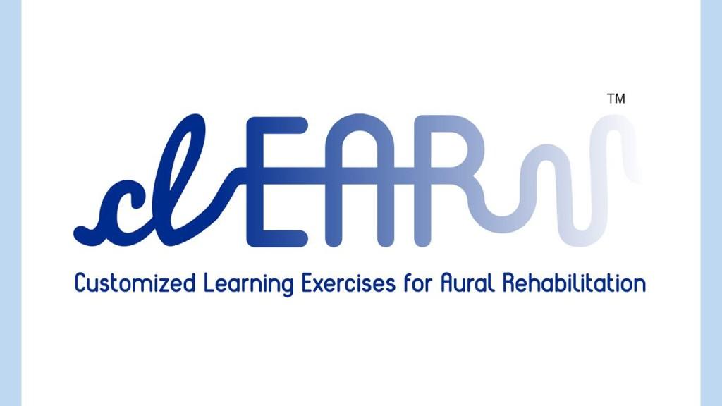 clEAR logo: Customized Learning Exercises for Aural Rehabilitation