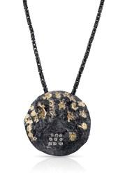 Planet Pendant, silver, gold, diamonds