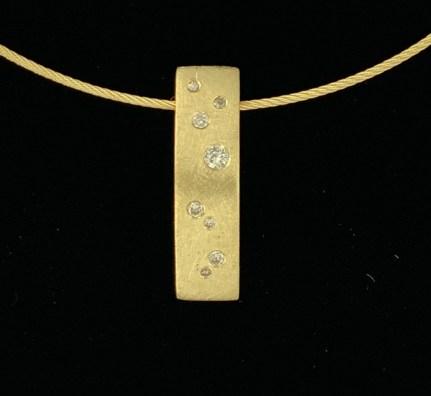 14k/diamond Starfall pendant