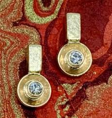14k gold, diamond post earrings