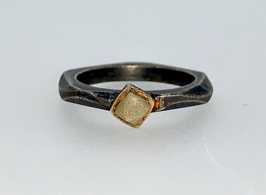 Rough Diamond Cube Stacking Ring