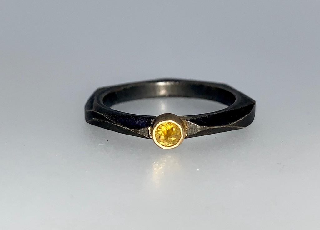 Yellow Diamond Stacking Ring