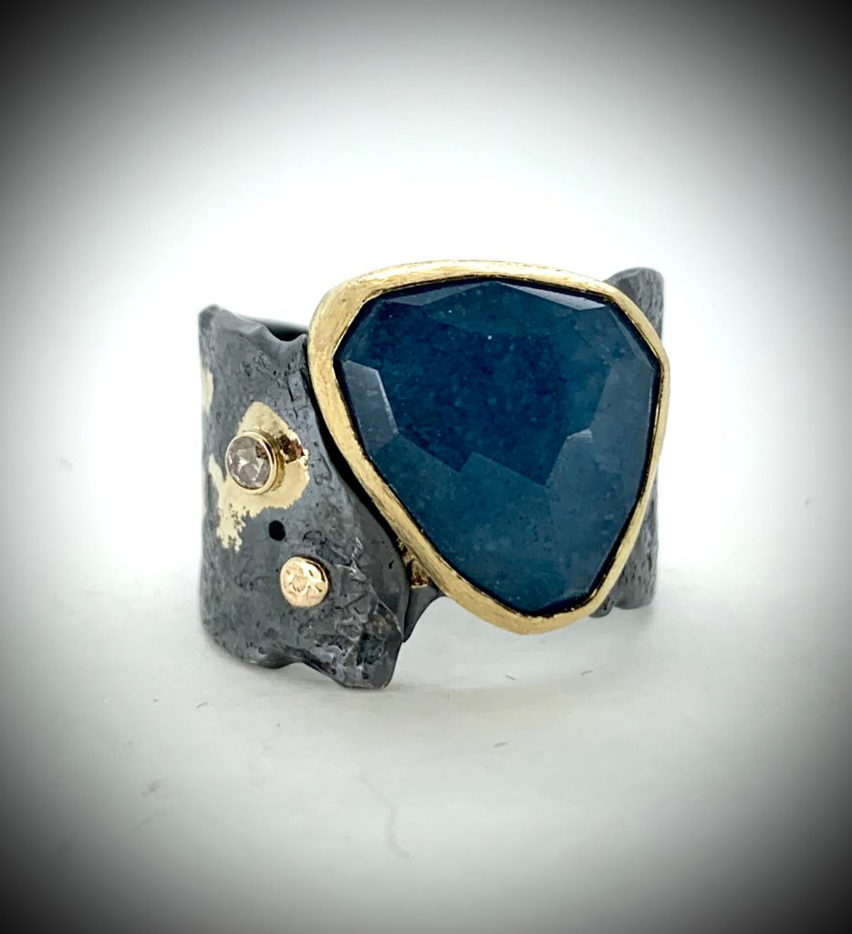 Denim Lapis Ring