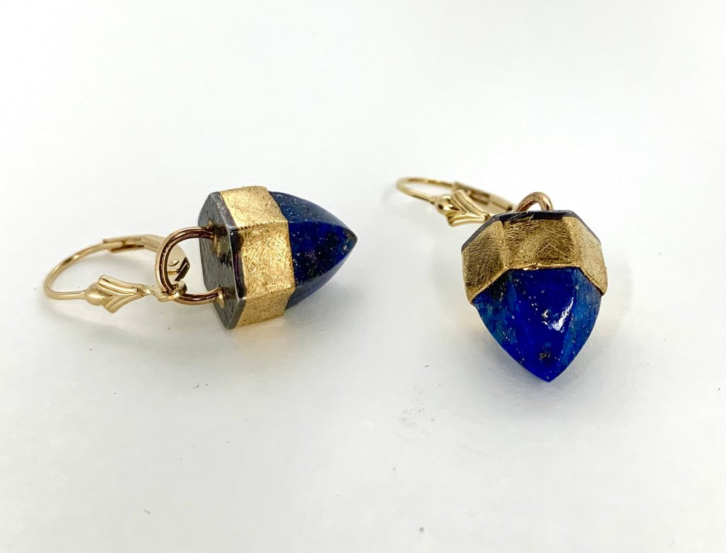 Lapis Lazuli and 22k gold Earrings