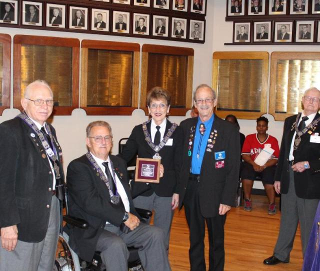 Image  Left To Right Pddger Enf District Chairman William Lakers Lodge Trustee