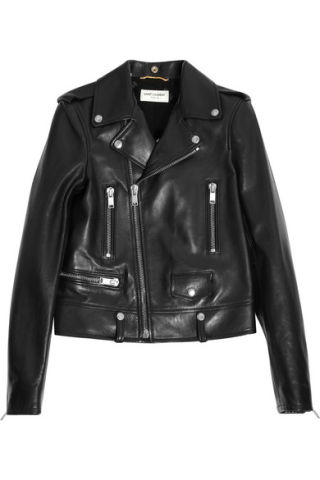 "<p>Saint Laurent Leather Biker Jacket, $5290; <a href=""http://www.net-a-porter.com/us/en/product/514680?cm_mmc=ProductSearch-_-us-_-Biker_Jackets-_-Leather&gclid=CMav2N-B3cMCFVU2gQodZw4AxA"">net-a-porter.com</a></p><br />"
