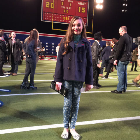 At my very-first-ever fashion show: Tommy Hilfiger. The whole place was set up to like a football stadium complete with a real Jumbotron, bleachers, and an AstroTurf field/runway. The energy was just awesome.