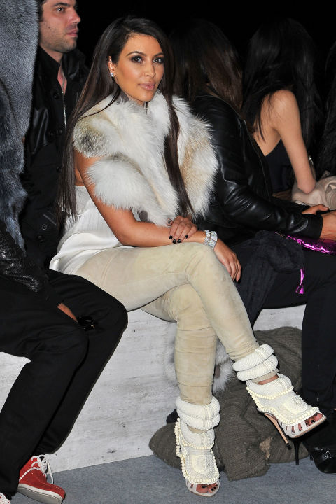At the Kanye West fall 2012 show