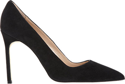 """I tried for a really long time to hold off on buying these, but I couldn't find another pair of black pumps that I loved as much. They're surprisingly comfortable and I can stand in them for at least three hours. Plus, they match everything."" Manolo Blahnik Suede BB Pumps, $595; barneys.com"