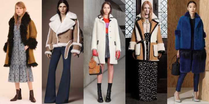 The coat-au-jour continues its dominance in trim and as an all-over textile at Topshop Unique, Carven, and Veronique Branquinho.Left to Right: Topshop Unique, Burberry, Carven, Veronique Branquinho, Bottega Veneta