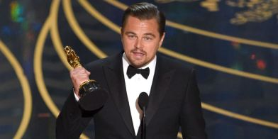 Image result for leonardo with oscar