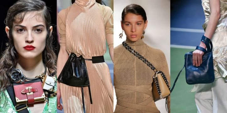 Carry your bag any other way than you're actually supposed to: around your neck, under your armpit, wrapped around your wrist, or on your hip.  As seen at Prada, Céline, Proenza Schouler, and Céline