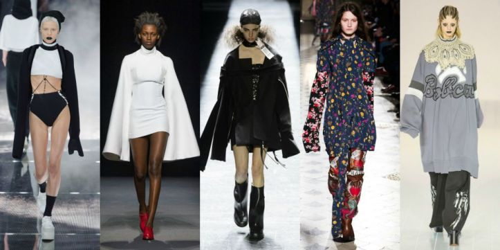 What can we say about this trend? Kind of functional (hoorah for covered hands) kind of not (they'll definitely get in the way), extra-long was the perferred sleeve length for many designers this season.  As seen at Fenty, Jacquemus, Hood by Air, Vetements, and Marc Jacobs