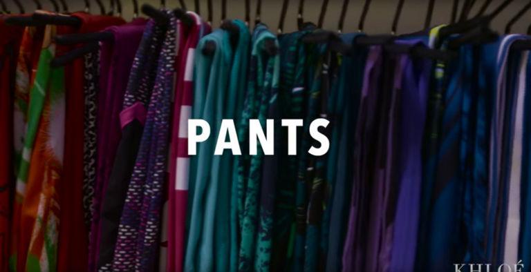 khloe kardashian fitness closet pants
