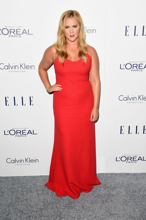 Amy Schumer Critics Choice White Halter Mermaid Plus Size Evening Dress