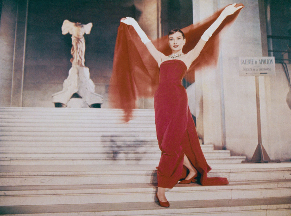 "Hepburn insisted that Hubert de Givenchy design all her clothes for Funny Face, saying simply, ""His are the only clothes in which I am myself."" Good thing the producers agreed, because the designer's red gown lent itself to the most unforgettable wardrobe moment of the film."