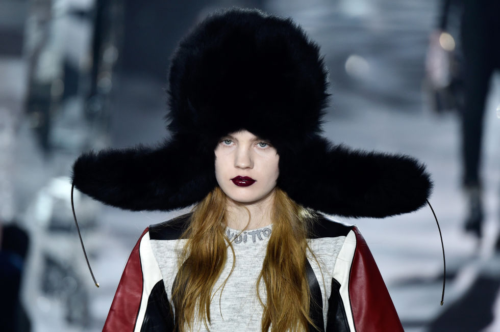 You don't have to sport the oversized Ushankas seen at Louis Vuitton, but keep in mind that trooper hats are a wintry lifesaver. The furry ear flaps are far superior to knit beanies, keeping your ears warm all season long.