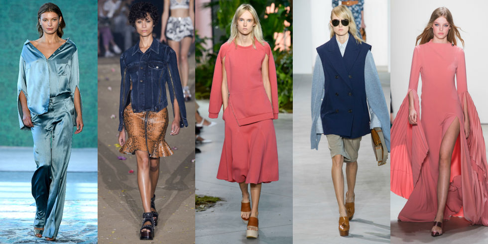Flared sleeves were all the rage last year, but now it's all aboutthe slit. Might we suggest upping your bangle and bracelet game to play off of the fresh silhouette. Left to Right:Hellessy, 3.1 Phillip Lim, Lacoste, Michael Kors, Prabal Gurung