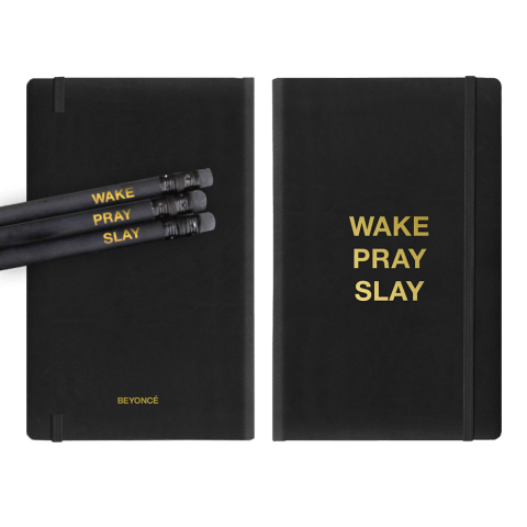 Beyoncé Wake Pray Slay Journal and Pencils, $25; shop.beyonce.com