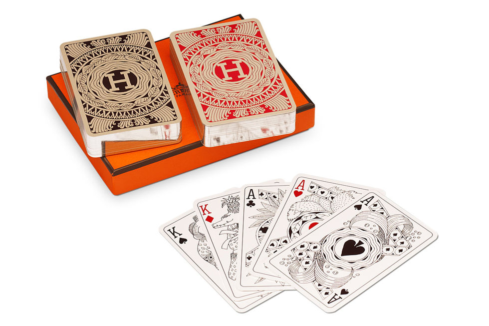 Hermès playing cards, $125; hermes.com