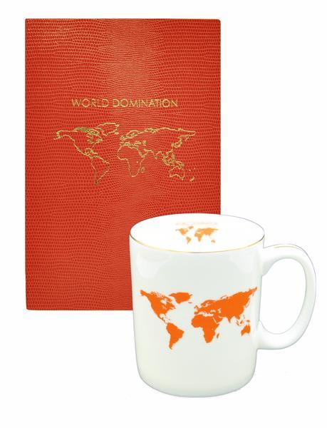 World Domination Mug and Softcover Notebook, £25; sloanestationery.com