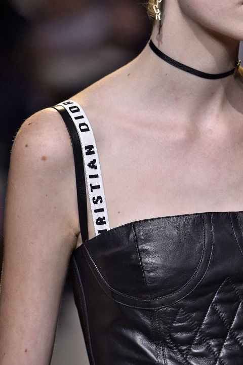 We might not be quite ready for this trend, but Maria Grazia Churi, creative director of Christian Dior, makes a good case. In her premiere collection for the Parisian house, bold bra straps were layered under corseted dresses in a throwback to the mid-aughts. Contrast straps are about to make a fierce comeback.