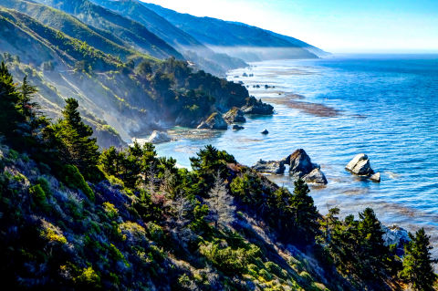 Take a drive up the winding highway that extends along the coast through Northern California. The rocky cliffs and cool blue Pacific waters are picturesque, to put it mildly. There are plenty of opportunities to pull over and take in the view, plus you'll encounter a few hot springs along the way, should you feel so inclined to stop and take a dip.