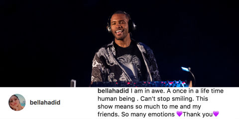 Frank Ocean celebs losing it over his gig