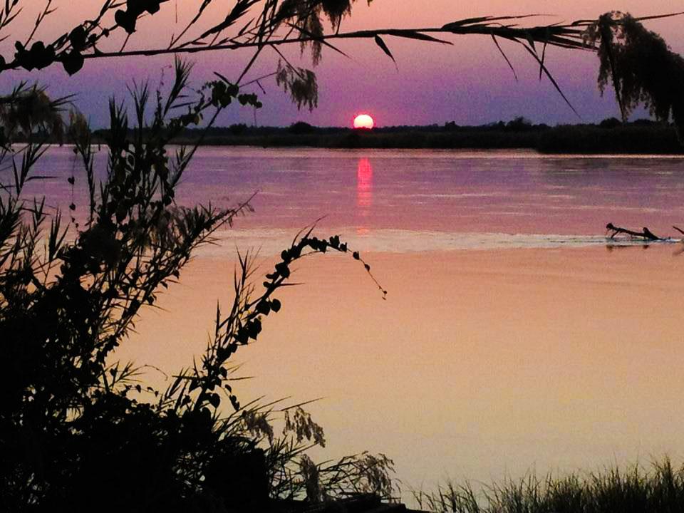 Zambezi River Sunset in Zambia Africa